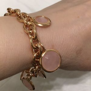 Jewelry - ROSE TONE CHARM BRACELET NWOT NEVER WORN